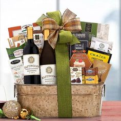 Wine Gift Baskets - All Occasion Wine Basket Holiday Gift Baskets, Wine Gift Baskets, Holiday Gifts, Wine Direct, California Wine, Bacon Bits, Thanksgiving Gifts, Appreciation Gifts, Wine Gifts