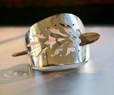 Hair pin barrette made from silverware. Barrette, Hair Pins, Cuff Bracelets, Gemstone Rings, Gemstones, Jewelry, Jewellery Making, Bobby Pins