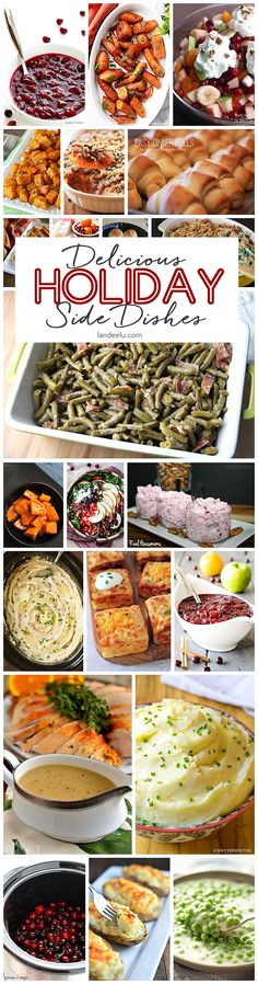 Holiday Side Dish Recipes! Tis the season to make special holiday side dishes for those you love! I can't wait to try some of these side dish recipe favorites.