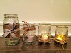 Mason Jars Mason Jars, Things To Come, Decoration, Wedding, Decor, Valentines Day Weddings, Mariage, Mason Jar, Decorating