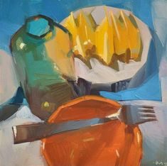 "Daily+Paintworks+-+""Making+Lemon+Elixer""+-+Original+Fine+Art+for+Sale+-+©+Carol+Marine"