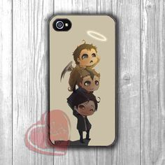 Winchester boys with Castiel cute drawing -SHN for iPhone 6S case, iPhone 5s case, iPhone 6 case, iPhone 4S, Samsung S6 Edge