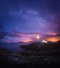 Ireland, light house ... Fanad Milky way by Daniel Korzhonov on 500px