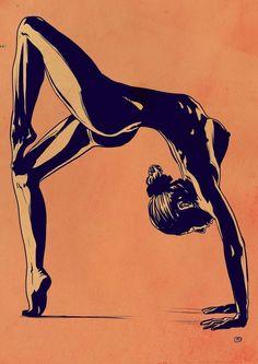Giuseppe Cristiano Illustrations, Illustration Art, Yoga Art, Arte Pop, Erotic Art, Figure Drawing, Art Inspo, Line Art, Fine Art America