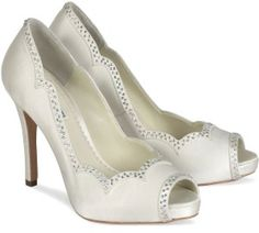 Simple White Wedding Shoes