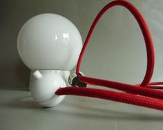 Glaskugel Lampe -  1950  - Upcycling Lamp von MaDütt auf DaWanda.com