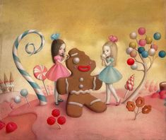 Nicoletta Ceccoli, Material Girls - Sweet & Low Exhibition