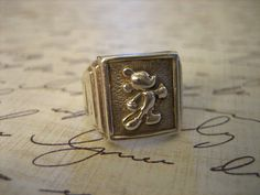 Vintage Sterling Silver Mickey Mouse Ring by charmingellie on Etsy, $42.00