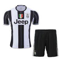 Juventus 2016-17 Season Home Soccer Uniform (Shirt+Shorts)