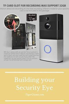 🔔🔔🔔The Best Video Doorbell🔔🔔🔔 No more limitation by wired doorbells, no more trouble of wire, no more need for professional installation. Protect your home in a very safe way, in a real-time video and audio communications with your family members, guests, visitors, and friends and more. You can see and talk to your visitors before opening the door via your phone, it features a wide-angle HD camera that provides a clear image with no dead ends overview to your home. Mechanical Engineering, Electrical Engineering, Smart Ring, Ring Video Doorbell, Material Science, Hidden Camera, Protecting Your Home, Gadgets And Gizmos, Wide Angle