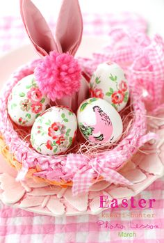 Clever #Easter Bunny Egg Basket--Such pretty eggs!