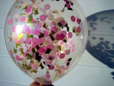 Confetti Filled Balloons Peach Pink and Gold by brightsoslight, $5.00