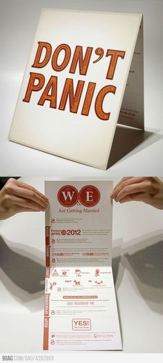 Creative wedding invite. Inspiration for both designs and future wedding :D