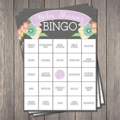 It's just a photo of Enterprising 40 Free Printable Baby Shower Bingo Cards