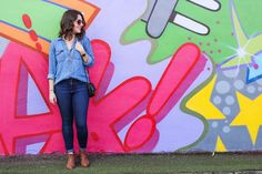Denim on Denim: Wynwood Walls. Street art, street style, casual style, ootd, fashion.