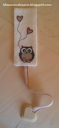 Owl Collection - Segnalibro di stoffa