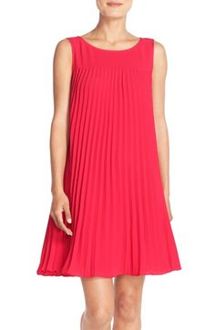 Free shipping and returns on Adrianna Papell Flyaway Pleated Crepe Shift Dress at Nordstrom.com. Crisp accordion pleats enhance the flyaway movement of a simple shift dress fashioned from fluid crepe. A flattering portrait neckline tops the striking style.