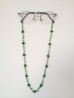 LE Beaded Reading Eyeglass Glasses Neck Strap Holder Chain Necklace 26/""