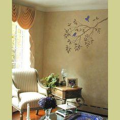 wall stencil, stencil, wall design