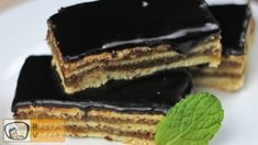 Homemade Gerbeaud cake recipe with video. Detailed steps on how to prepare this easy and simple dessert recipe! Ready in: 2 hours Make Your Own Cookbook, Beef Wraps, Cookie Recipes, Dessert Recipes, Chocolate Glaze, Vegetarian Chocolate, Recipe Cards, Easy Desserts, Easy Meals