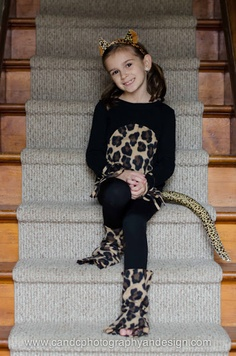 Halloween for Katie -- Cheetah costume