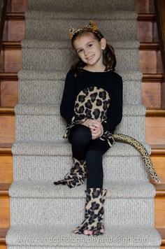Halloween for Katie -- Cheetah costume