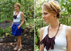 diy fabric necklace