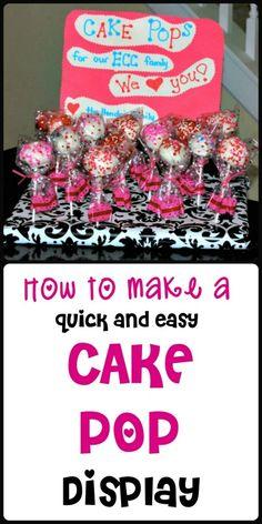 Cake Pop Display -