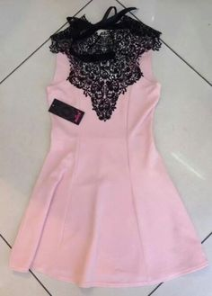 Pink and Black French lace dress at Nicci Boutiques #nicci
