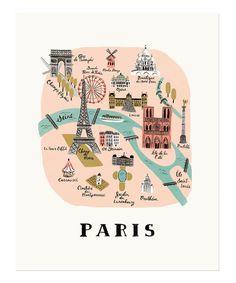 Paris Map Print | Rifle Paper Co.