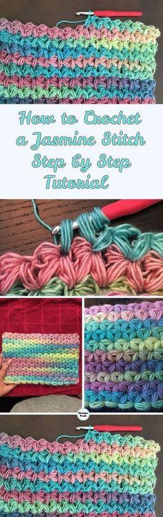 Jasmine Stitch – Step by Step Tutorial & Pattern