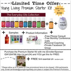 Young Living Premium Starter Kit Promotion- Limited Time Offer
