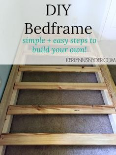 House diy cheap money 29 great ideasHouse diy cheap money 29 super ideas house diyDIY simple bed frameDIY bed frame, build your own bed, proper wood.A simple DIY bed frame - Keri Lynn SnyderDIY bed Diy Bed Frame Plans, Diy Twin Bed Frame, Floor Bed Frame, Simple Bed Frame, Bed Frame With Storage, Bed Plans, Easy Frame, Twin Beds, Bunk Beds