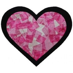 Valentine Craft Activity: Stained Glass Heart Get beautiful paper stained glass effects with tissue paper and glue. Funny Valentine, Valentine Banner, Valentine Crafts For Kids, Animal Crafts For Kids, Saint Valentine, Valentine Day Crafts, Be My Valentine, Holiday Crafts, Valentine Activities