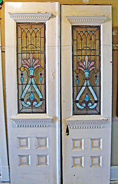 Antique stained glass doors - RMB