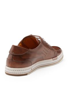 Playtime Leather Sneaker, Brown