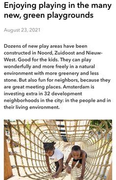 Meeting Place, Living Environment, Playground, Amsterdam, Greenery, The Neighbourhood, News, City, Nature