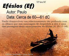 Bíblia Sagrada e seus livros: EFÉSIOS - Autor e Data (Ef)