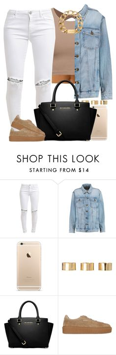 """I just love those jeans -shrug-"" by livelifefreelyy ❤ liked on Polyvore featuring FiveUnits, Current/Elliott, ASOS, MICHAEL Michael Kors, Puma and Michael Kors"