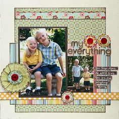 My Everything scrapbook page layout