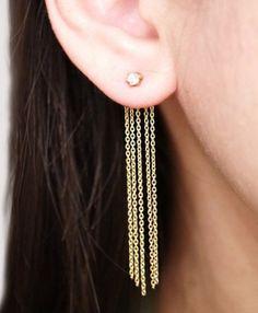 DIY: Tassel Knot Chain #Earrings at #soboTips  https://sobotips.wordpress.com/2016/12/02/diy-tassel-knot-chain-earrings/