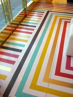 seriously heart a striped floor