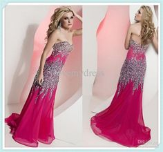 Sparkly long prom dress