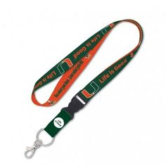 Miami Hurricanes Lanyard with Detachable Buckle - LIFE IS GOOD