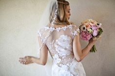 This stunning Claire Pettibone dress is my wedding dress of the week ~ such an exquisite illusion back!