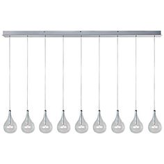 "ET2 Larmes 56"" Wide Polished Chrome Multi Light Pendant - #V0876 