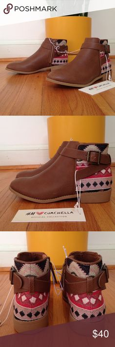 20% off 2 + SALE H&M Ankle boots The Perfect Fall boots! H&M x Coachella collab boots. Embroidered canvas material with buckles. NWT. US 6/ Euro 37 H&M Shoes Ankle Boots & Booties