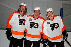 Scott Hartnell, Mike Richards and Claude Giroux Scott Hartnell, Mike Richards, Flyers Hockey, Philadelphia Flyers, Pilgrim, Eagles, Nhl, Pride, Football