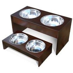 Amazon.com: PetFusion Elevated Pet Bowl Holder in Solid Pine (Tall - 10.1 inch height): Pet Supplies