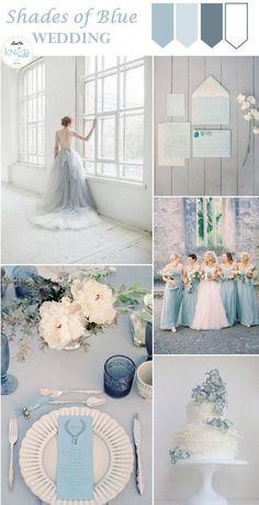 shades of blue wedding Inspiration